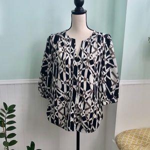 Milano geometric blouse M